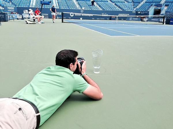 August 23, 2014, New Haven, CT:<br /> Trophy photos on day nine of the 2014 Connecticut Open at the Yale University Tennis Center in New Haven, Connecticut Saturday, August 23, 2014.<br /> (Photo by Billie Weiss/Connecticut Open)
