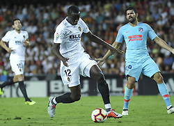 August 20, 2018 - Diakhaby of Valencia and  Costa of Atletico de Madrid in action during the spanish league, La Liga, football match between ValenciaCF and Atletico de Madrid on August 20, 2018 at Mestalla stadium in Valencia, Spain. (Credit Image: © AFP7 via ZUMA Wire)