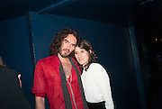 RUSSELL BRAND; BELLA FREUD, The Hoping Foundation  'Rock On' benefit evening for Palestinian refugee children.  Cafe de Paris, Leicester Sq. London. 20 June 2013