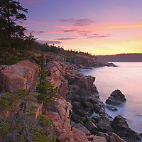 Maine Acadia National Park coastal photography images are available as museum quality photography prints, canvas prints, acrylic prints or metal prints. Prints may be framed and matted to the individual liking and room decor needs:<br /> <br /> http://juergen-roth.pixels.com/featured/maine-acadia-national-park-seascape-photography-juergen-roth.html<br /> <br /> Stunning seacoast photography at sunrise featuring a spectacular view across the beautiful cliffs of the Maine rocky coastal shoreline in Acadia National Park. I discovered this incredible overlook with a steep cliff on my last visit to Acadia NP and went back for a sunrise seascape photography session. I positioning tripod and camera above the steep cliffs in front of me and one wrong step away from going down into the ocean to capture A New Day.  <br /> <br /> Acadia NP is a National Park located in the U.S. state of Maine. It reserves much of Mount Desert Island, and associated smaller islands, off the Atlantic coast. The park is one of the most visited wildlife areas in the United States and a paradise for every photographer and outdoor enthusiast. The park loop road provides easy access to many of the iconic photography subjects, such as Monument Cove, Sand Beach, Jordan Pond and the Bubbles, Otter Cliff to name only a few. The carriage roads and hiking trails provide further access to more remote locations where the park continues to inspire and unfolds its full magic. It is a heaven for macro, seascape, and landscape photography that makes for great wall art decoration. Especially sunrise and the light of the golden hours paint the sky in beautiful blue and orange and bring out the beauty of the pink granite rocks.<br /> <br /> Good light and happy photo making! <br /> <br /> My best, <br /> <br /> Juergen <br /> Website: www.RothGalleries.com<br /> Twitter: @NatureFineArt<br /> Facebook: https://www.facebook.com/naturefineart<br /> Instagram: https://www.instagram.com/rothgalleries