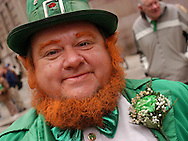 PHILADELPHIA - MARCH 14:  Bill Hare, of Philadelphia, Pennsylvania participates in the 53rd Annual St. Patrick's Day Parade dressed as a leprechaun March 14, 2004 in Philadelphia, Pennsylvania. An estimated 10,000 people came out to watch parade which featured more then 120 marching units and included musical bands, Irish dancers, and Irish culture groups. St. Patrick's Day is March 17, 2004.  (Photo by William Thomas Cain/Getty Images)