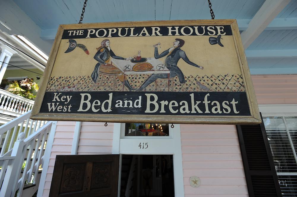 Key West Bed & Breakfast / The Popular House. Victorian style, Besitzerin Jody Carlson,   415 William Street Key West, FL 33040 ..Florida 2009..Foto © Stefan Falke.