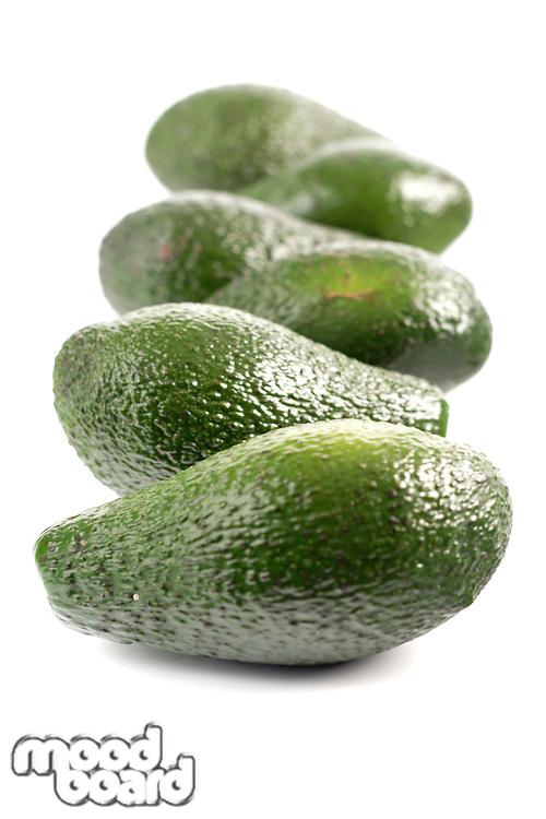 Studio shot of avocado on white background