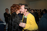 DANNA SWAROVSKI AND MARC NEWSON , Exhibition of work by Marc Newson at the Gagosian Gallery, Davies st. London. afterwards at Mr. Chow, Knightsbridge. 5 March 2008.  *** Local Caption *** -DO NOT ARCHIVE-© Copyright Photograph by Dafydd Jones. 248 Clapham Rd. London SW9 0PZ. Tel 0207 820 0771. www.dafjones.com.