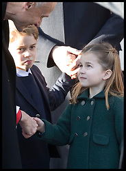 December 25, 2019, Sandringham, London, United Kingdom: Image licensed to i-Images Picture Agency. 25/12/2019. Sandringham, United Kingdom. Princess Charlotte and Prince George leaving the Christmas Day church service at Sandringham in Norfolk, United Kingdom. (Credit Image: © Stephen Lock/i-Images via ZUMA Press)