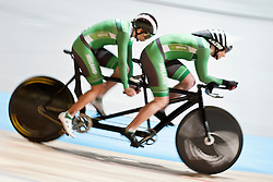 DUNLEVY Katie-George Pilote:  MCCRYSTAL Eve, IRE, Tandem 4km Pursuit Qualifiers , 2015 UCI Para-Cycling Track World Championships, Apeldoorn, Netherlands