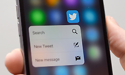 """File photo dated 29/12/15 of the Twitter app shown on a mobile phone. Labour has dismissed a report that thousands of Russian Twitter accounts were used to rally support for the party in the closing stages of last year's general election as """"classic smear""""."""