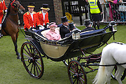 The Queen and the Duke of Edinburgh. Royal Ascot Race meeting Ascot at York. Tuesday 14 June 2005. ONE TIME USE ONLY - DO NOT ARCHIVE  © Copyright Photograph by Dafydd Jones 66 Stockwell Park Rd. London SW9 0DA Tel 020 7733 0108 www.dafjones.com