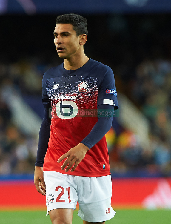 November 5, 2019, Valencia, Valencia, Spain: Benjamin Andre of Losc Lille during the during the UEFA Champions League group H match between Valencia CF and Losc Lille at Estadio de Mestalla on November 5, 2019 in Valencia, Spain (Credit Image: © AFP7 via ZUMA Wire)