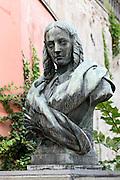 Büste von Annette Droste-Hüllshof, Meersburg, Bodensee, Baden-Württemberg, Deutschland