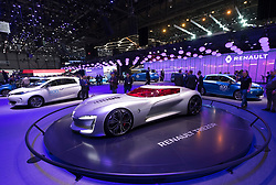 Renault Trezor concept vehicle at 87th Geneva International Motor Show in Geneva Switzerland 2017