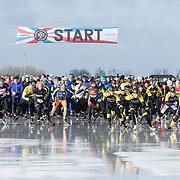 NLD/Biddinghuizen//20170305 - De Hollandse 100 - Stichting Lymph & Co 2017, Start van de 10 km schaatsen