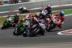 July 8, 2018 - Misano, RN, Italy - Michael Van Der Mark of Pata Yamaha Official WorldSBK Team during race 2 of the Motul FIM Superbike Championship, Riviera di Rimini Round, at Misano World Circuit ''Marco Simoncelli'', on July 08, 2018 in Misano, Italy  (Credit Image: © Danilo Di Giovanni/NurPhoto via ZUMA Press)
