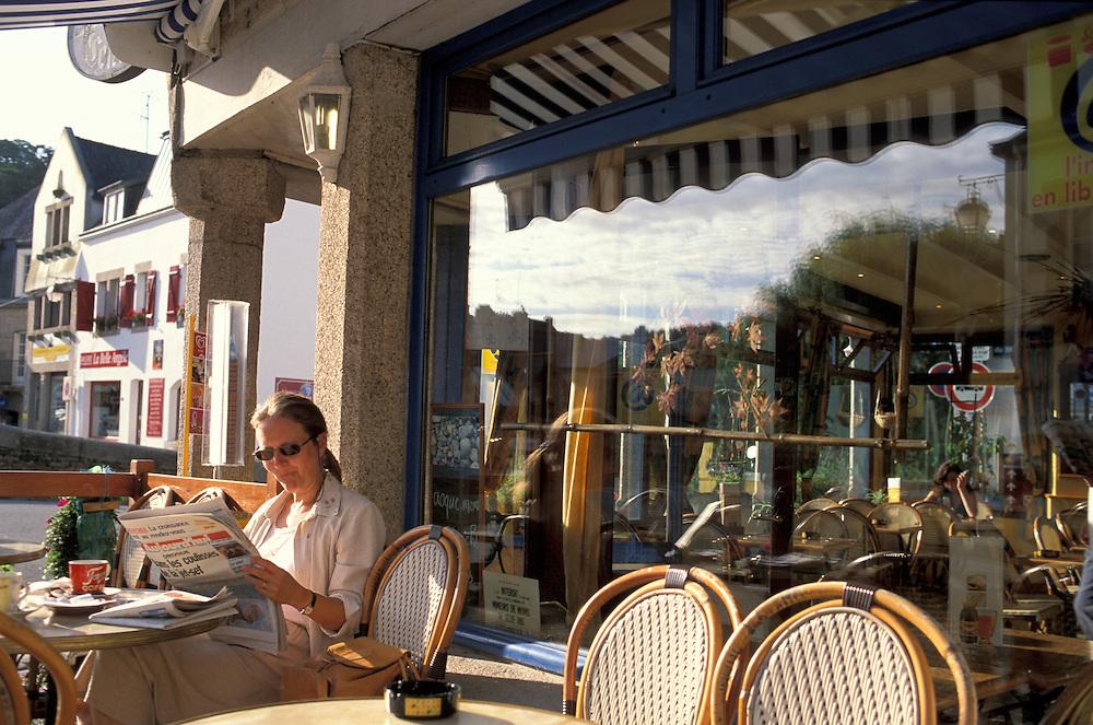 Cafe du centre,Pont Aven,Brittany,Bretagne,France