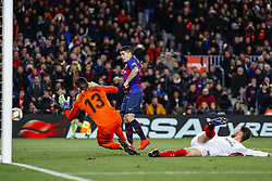 January 30, 2019 - Barcelona, Spain - FC Barcelona forward Luis Suarez (9) goal action during the match FC Barcelona v Sevilla CF, for the round of 8, second leg of the Copa del Rey played at Camp Nou  on 30th January 2019 in Barcelona, Spain. (Credit Image: © Mikel Trigueros/NurPhoto via ZUMA Press)