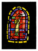 (Painting a stained glass window)