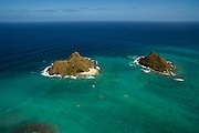 Mokulua Islands, Lanikai, Oahu, Hawaii