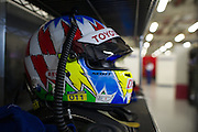 29th October - 1st November 2015. World Endurance Championship. 6 Hours of Shanghai.  Shanghai International Circuit, China. Alexander Wurz' helmet