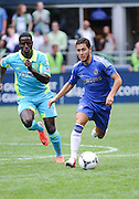 July 18, 2012: CenturyLink Field, Seattle, WA: Chelsea FC Yossi Benayoun during the World Football Challenge. Chelsea FC led the Seattle Sounders 4-2 at the half.