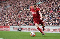 Football - 2019 / 2020 Premier League - Liverpool vs. AFC Bournemouth<br /> <br /> Liverpool's James Milner  in action during todays match  , at Anfield.<br /> <br /> <br /> COLORSPORT/TERRY DONNELLY
