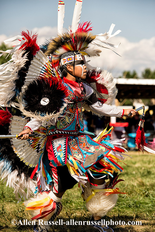 Crow Fair Powwow, Junior Fancy Dancer, Crow Indian Reservation, Montana