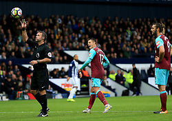 Javier Hernandez of West Ham United voices his displeasure after failing to get a decision from referee Paul Tierney  - Mandatory by-line: Paul Roberts/JMP - 16/09/2017 - FOOTBALL - The Hawthorns - West Bromwich, England - West Bromwich Albion v West Ham United - Premier League