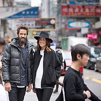 Craig Ellis & Erin Deering founders of Triangl Bikini poses for a portrait on December 6, 2014 in Hong Kong, China. Photo by Victor Fraile / studioEAST