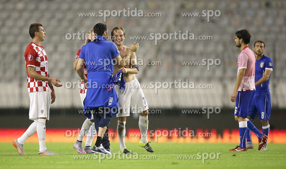 12.06.2015, Stadion Poljud, Split, CRO, UEFA Euro 2016 Qualifikation, Kroatien vs Italien, Gruppe H, im Bild Ivan Rakitic // during the UEFA EURO 2016 qualifier group H match between Croatia and and Italy at the Stadion Poljud in Split, Croatia on 2015/06/12. EXPA Pictures &copy; 2015, PhotoCredit: EXPA/ Pixsell/ Igor Kralj<br /> <br /> *****ATTENTION - for AUT, SLO, SUI, SWE, ITA, FRA only*****