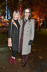 FRANCESCA MERRICKS and JOSHUA KANE at the Hyde Park Winter Wonderland - VIP Preview Night, Hyde Park, London on 17th November 2016.
