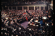 Preisend Jimmy Carter delivers the State of the Union message in Jaunuary 1978<br /> Photo by Dennis Brack