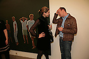 TOR GOODER and Simon Sebag-Montefiore, Alex Katz 'One Flight Up' at the new Timothy Taylor Gallery , 15 Carlos Place. London. 11 October 2007. -DO NOT ARCHIVE-© Copyright Photograph by Dafydd Jones. 248 Clapham Rd. London SW9 0PZ. Tel 0207 820 0771. www.dafjones.com.