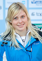 Nina Znidar, Alpine Ski team at Official photo of  Slovenia team for  European Youth Olympic Festival (EYOF) in Liberec (CZE) at official presentation, on February  9, 2011 at Bled Castle, Slovenia. (Photo By Vid Ponikvar / Sportida.com)