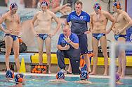 01-12-2013 : WATERPOLO : GZC DONK - SCHUURMAN BZC : GOUDA<br /> <br /> Coach Zeno Reuten van Schuurman BZC<br /> Kwartfinale Heren - KNZB Beker 2013 <br /> <br /> Foto: Gertjan Kooij