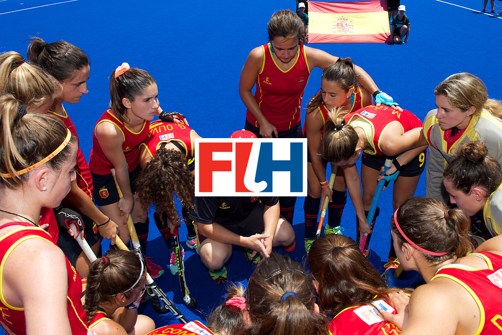 RIO 2016 Olympic qualification, Hockey, Women, match for 5th place, Spain vs United States of America :  team Spain