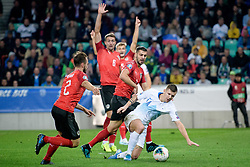 Aleksandar Dragovic of Austria, Roman Bezjak of Slovenia during the 2020 UEFA European Championships group G qualifying match between Slovenia and Austria at SRC Stozice on October 13, 2019 in Ljubljana, Slovenia. Photo by Sasa Pahic Szabo / Sportida