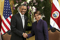 59600228  .U.S President Barack Obama meets with Costa Rica s President Laura Chinchilla (R), in San Jose, capital of Costa Rica, on May 3, 2013.  Photo by: imago / i-Images. UK ONLY