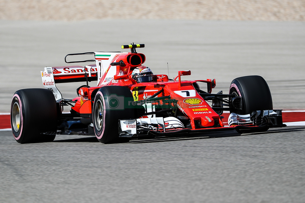 October 21, 2017 - Austin, Texas, U.S - Ferrari driver Kimi Raikkonen (7) of Finland in action during the final practice before the Formula 1 United States Grand Prix race at the Circuit of the Americas race track in Austin,Texas. (Credit Image: © Dan Wozniak via ZUMA Wire)