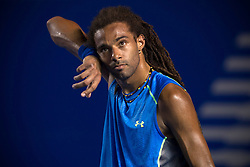 Germany's Dustin Brown gestures during the men's singles match against South Africa's Kevin Anderson at the Abierto Mexicano Telcel tennis tournament in Acapulco, Guerrero state, Mexico, on Feb. 23, 2015. Dustin Brown lost the match 0-2 (da). EXPA Pictures © 2015, PhotoCredit: EXPA/ Photoshot/ [e]Alejandro Ayala<br /> <br /> *****ATTENTION - for AUT, SLO, CRO, SRB, BIH, MAZ only*****