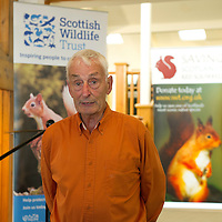 FREE TO USE PHOTOGRAPH....The House of Bruar Helping Scottish Wildlife Trust's Saving Scotland's Red Squirrels Campaign<br /> Pictured sculpter Eddie Hallam<br /> Picture by Graeme Hart.<br /> Copyright Perthshire Picture Agency<br /> Tel: 01738 623350  Mobile: 07990 594431