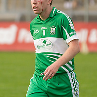 Wolfe Tone's Barry Murphy leaves the field for a blood substitution during the Intermediate Football Final