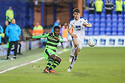 Forest Green Rovers Dale Bennett(6) passes the ball  forward during the Vanarama National League match between Tranmere Rovers and Forest Green Rovers at Prenton Park, Birkenhead, England on 11 April 2017. Photo by Shane Healey.