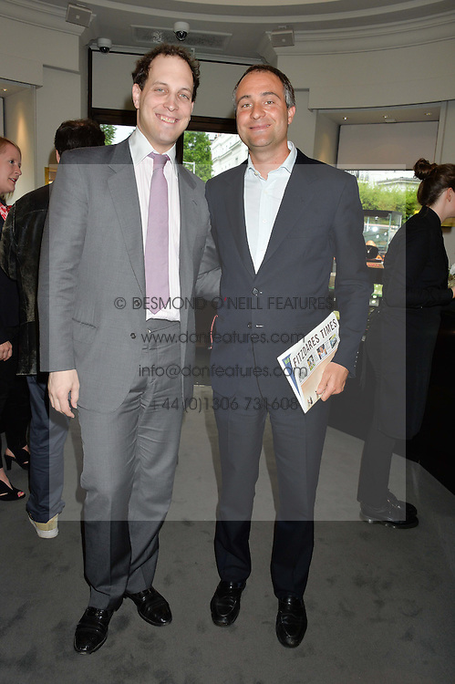 Left to right, LORD FREDDIE WINDSOR and BEN GOLDSMITH at a party to celebrate the publication of the Summer edition og the Fitzdares Times held at Theo Fennell, 169 Fulham Road, London on 13th June 2016.