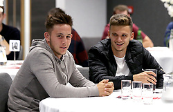 Josh Brownhill and Jamie Paterson of Bristol City take part in the City Foundation Quiz  - Mandatory by-line: Robbie Stephenson/JMP - 19/09/2016 - FOOTBALL - Ashton Gate - Bristol, England - Bristol City Community Trust Quiz
