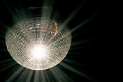 Discoball at a show during London Fashion Week, UK 2005