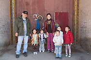 Mongolia. little girls in front of the temple of Erdeni Zuu  Hakhorin -
