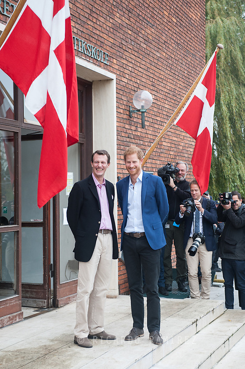 26.10.12017. Copenhagen, Denmark.  <br /> Prince Harry and Prince Joachim at the Danish Defence Centre for Military Physical Training in Copenhagen.<br /> Photo: © Ricardo Ramirez