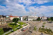 Postplatz, Dresden, Sachsen, Deutschland.|.Postplatz (Post Square), Dresden, Germany