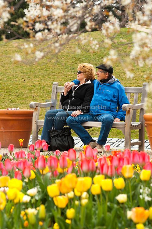 Steve & Diane Currey, members from Cheyenne, Wyoming in the AAS Garden
