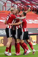 Football - 2019 / 2020 Premier League - Sheffield United vs Tottenham Hotspur<br /> Sander Berge of Sheffield United celebrates scoring his sides first goal to make the score 1-0, at Bramall Lane.<br /> <br /> COLORSPORT/PAUL GREENWOOD