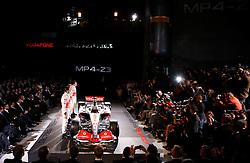STUTTGART, GERMANY - Monday, January 7, 2008: Launch of the Vodafone McLaren Mercedes MP4-23 Formula One car for the 2008 season at the Mecedez-Benz museum in Stuttgart. (Photo by Michael Kunkel/Hochzwei/Propaganda)